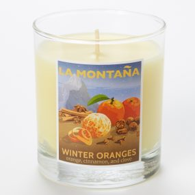 winter orangescandle